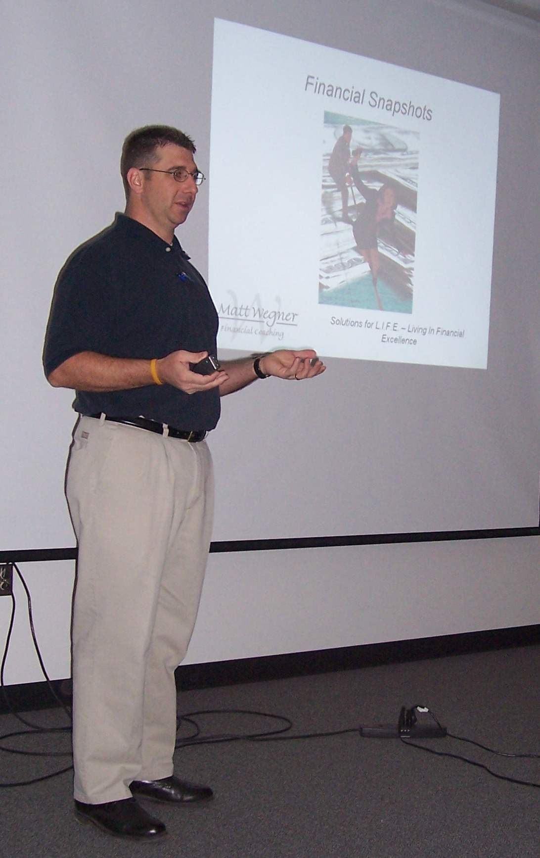 Matt Wegner teaching during Money Smart Week 2009