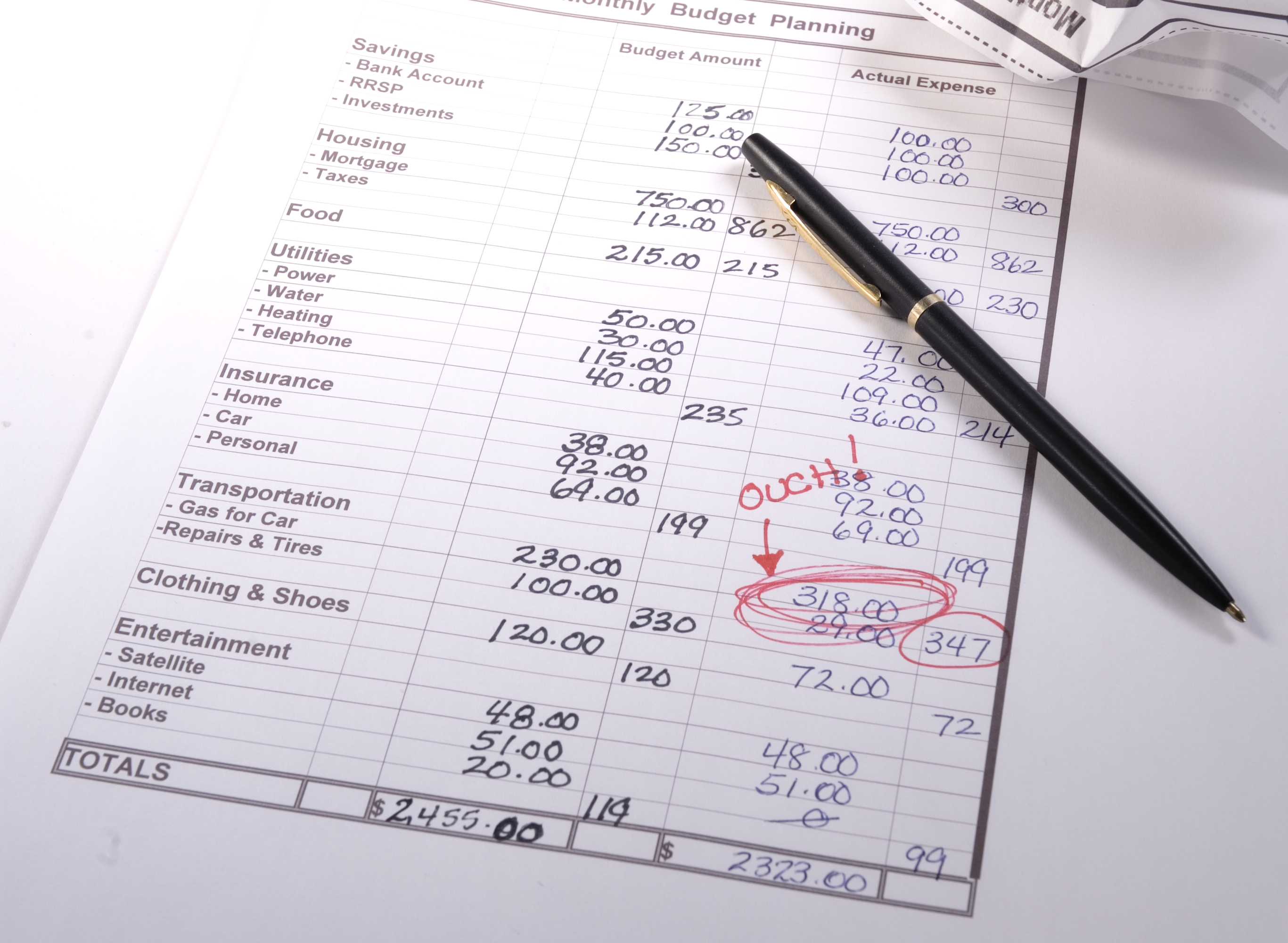 Setting up your first budget