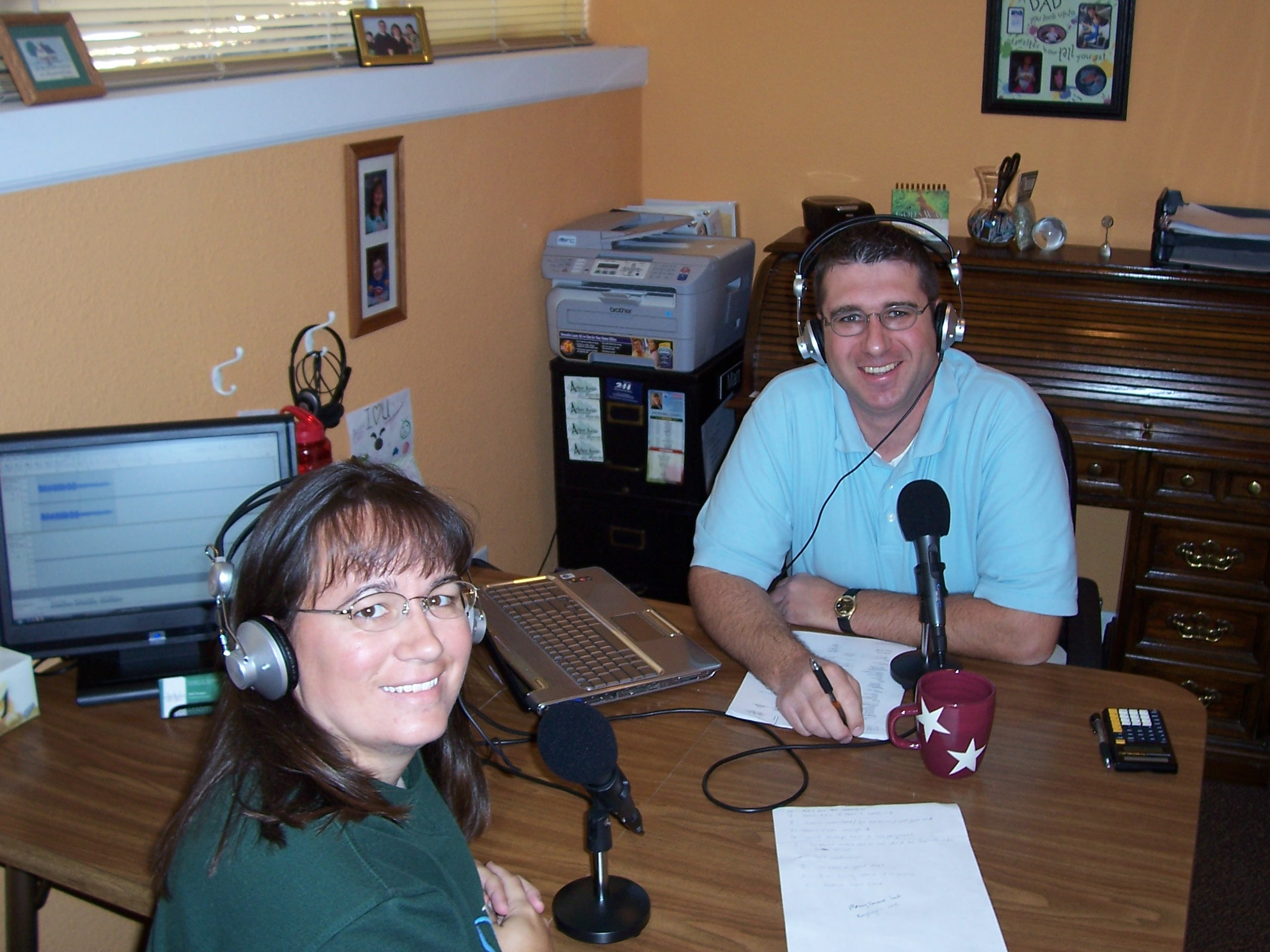 Matt & Janelle Wegner in the Financial Excellence Studio