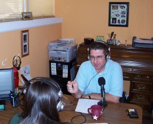 Matt & Janelle Recording the Financial Excellence Podcast