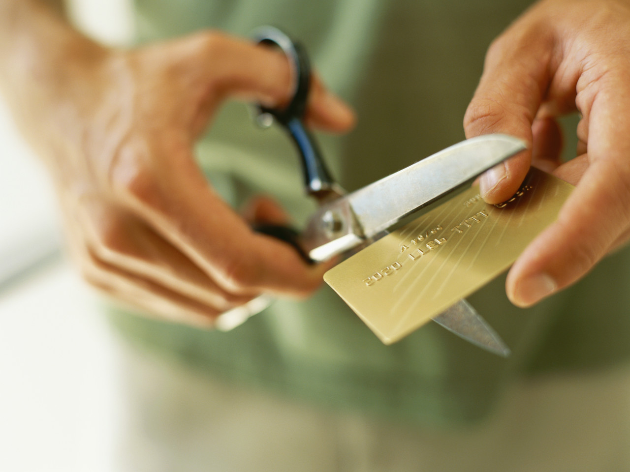 cut up credit cards to get rid of debt